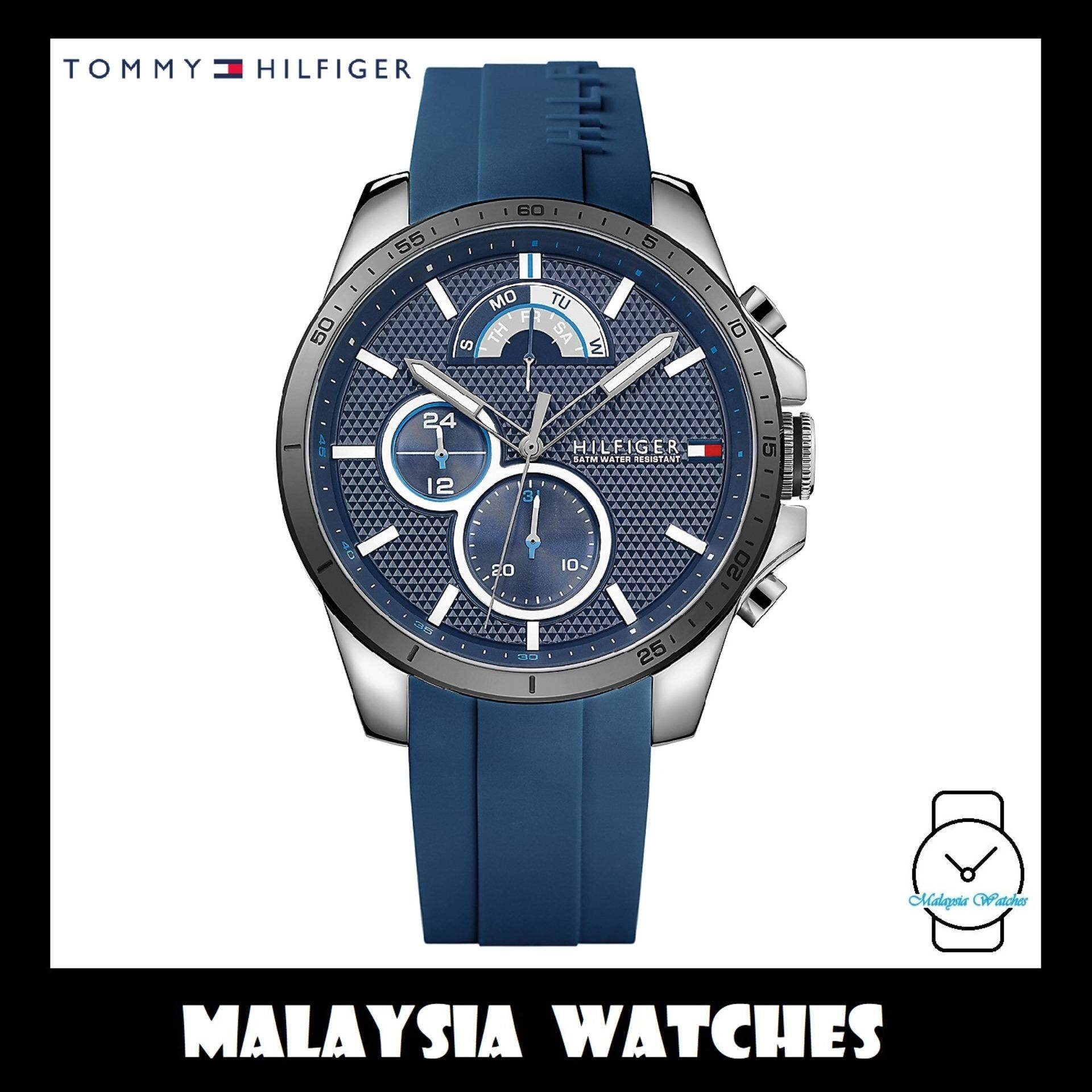 8fa8d12cdff (100% Original) Tommy Hilfiger Men s 1791350 Blue Silicon Watch (Blue)