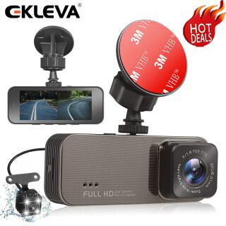 Camera DVR Xe Hơi EKLEVA Máy Quay Video Ống Kính Kép, Camera Hành Trình Ghi Hình 3 Inch Full HD 1080P Camera Hành Trình Cảm Biến G Tầm Nhìn Ban Đêm thumbnail