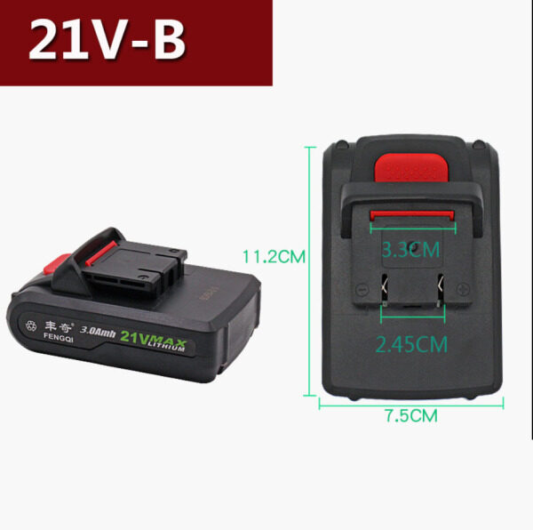Universal Electric Drill Battery 21V 36VF 48VF 98VF 128VF Worx Household Rechargeable Drill Lithium Battery Electric Switch Battery