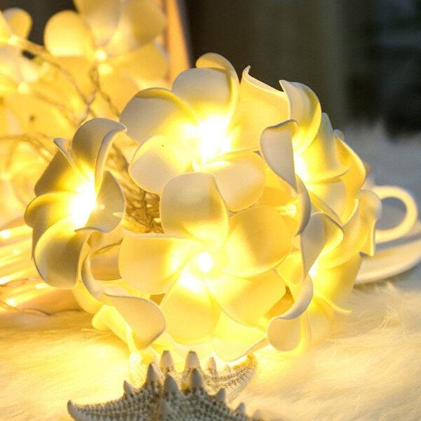 KPKP Vintage Frangipani Flower Đèn LED Thần Tiên Chuỗi Pin Nhà Tiệc Cưới