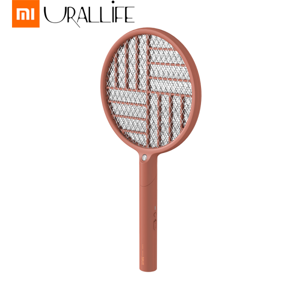 Xiaomi Mijia Urallife 2 In 1 Foldable Electric Mosquito Swatter 3 Layers Mesh USB Rechargeable Handheld Mosquito Killer Swatter With Led Lamp Portable Insect Fly Bug Mosquito Swatter Killer For Home Outdoor Office Use
