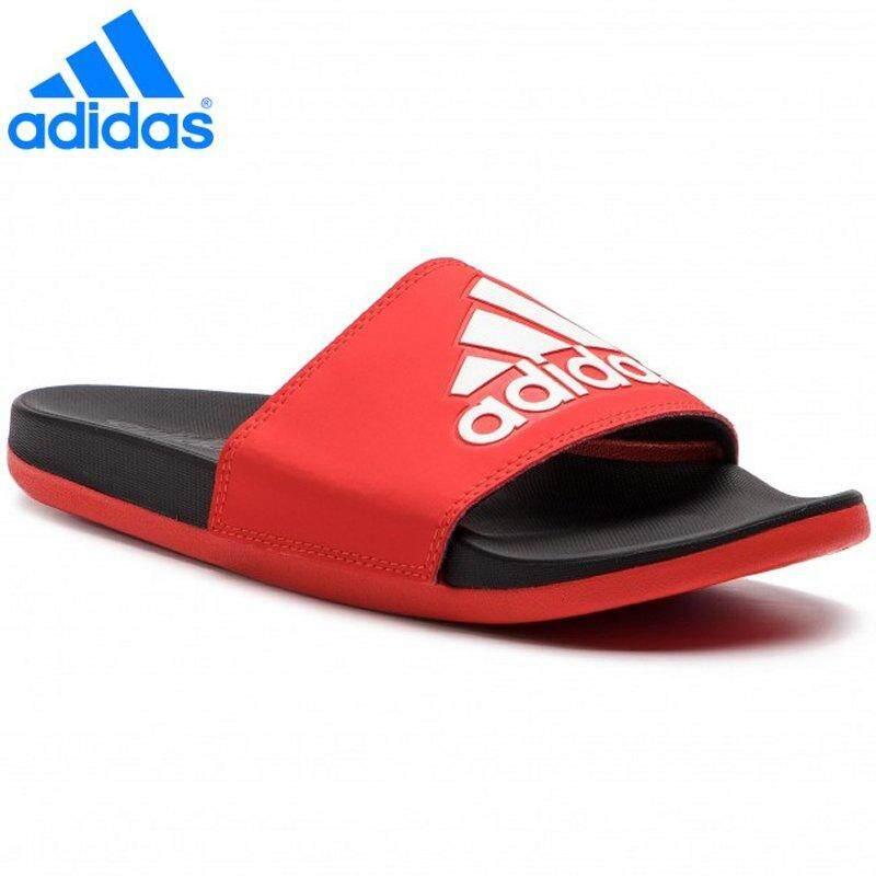 38a87a1fd86 Adidas 2019 New Unisex Adilette Cloudfoam Plus Logo Slides F34722 Active Red  White