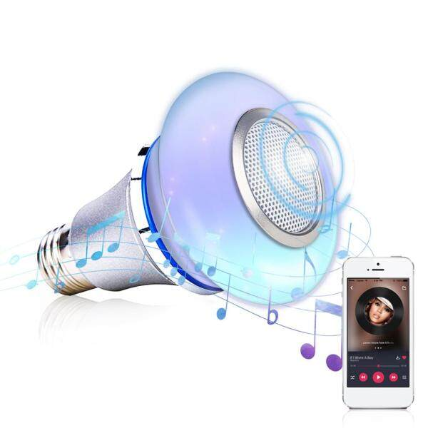 Smart Life Mini Remote Control Color Changing Bluetooth Speaker Wireless Playing Home RGB Dimmable Music Light Bulb