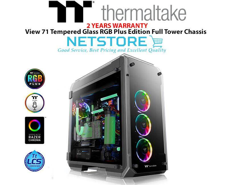 Thermaltake View 71 Tempered Glass TG RGB Plus Edition Full Tower Chassis - CA-1I7-00F1WN-02 Malaysia
