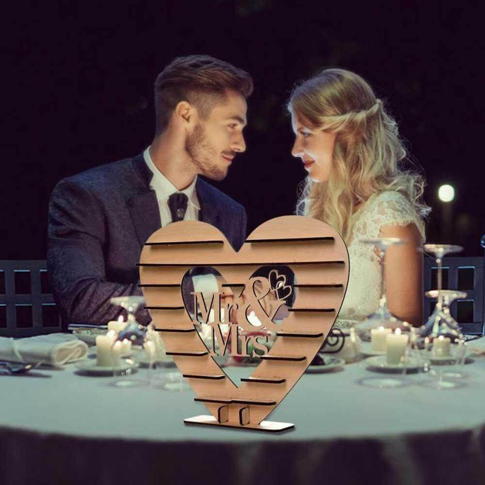 BuyBowie Wooden Heart Shaped Chocolate Display Rack Candy Shelf for Banquet Party, Valentines Day, Lover, Love Day Decoration Placement(Size:38*43*4.5 cm)