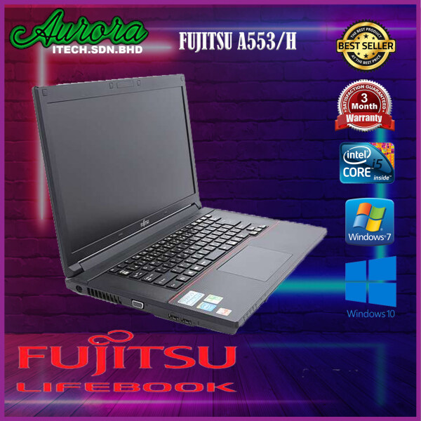 (REFURBISHED)LAPTOP FUJITSU LIFEBOOK A553/H INTEL CORE CELERON 4th GENERATION/ 2GB-4GB DDR3 RAM / 120GB SSD Malaysia
