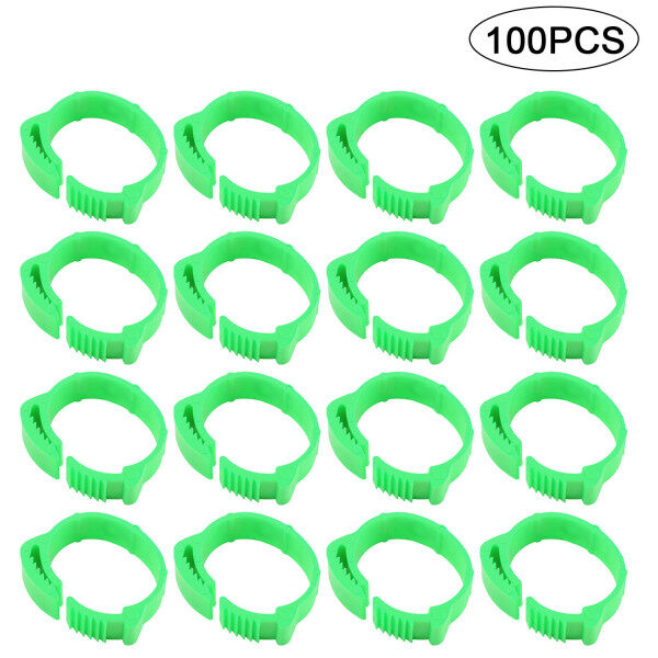 100 cái vòng chân gà có thể điều chỉnh 001-100 Vòng khóa chân gà kỹ thuật số cho gà vịt bồ câu gia cầm vật tư trang trại