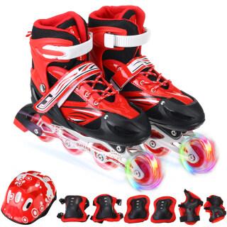 Giày Trượt Patin Có Thể Điều Chỉnh Cho Trẻ Em Và Người Lớn Với Bánh Xe Phát Sáng Đầy Đủ, Ván Trượt Con Lăn Lưỡi Dao Ngoài Trời Chàng Trai Và Cô Gái thumbnail