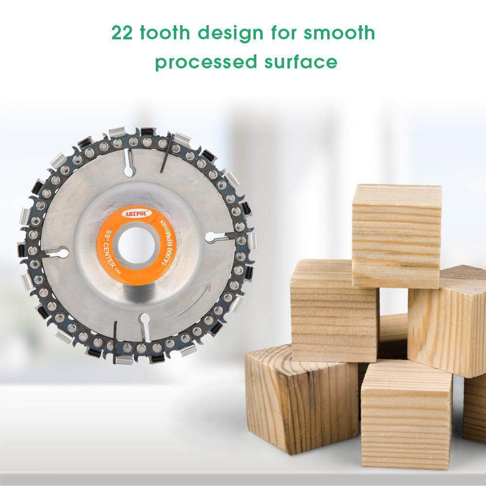 4 22 Tooth Chain Disc Woodworking Chain Wheel for 100/115mm Angle Grinder