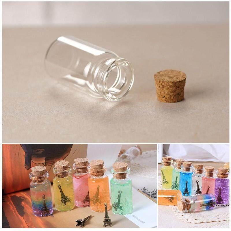 Mua 10 trong suốt Chai thủy tinh nhỏ nút chai Bộ sưu tập Bình trang trí DIY hộp đựng bán mini chai thủy tinh
