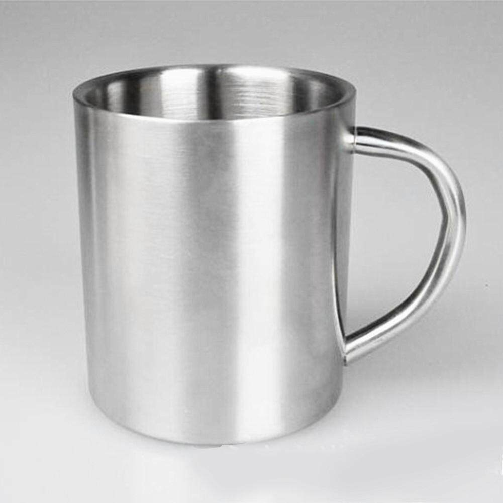 ed78c4215f5 Portable Student Double Wall Stainless Steel Coffee Mug Travel Tumbler Tea  Cup