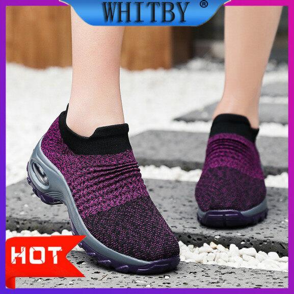 Giày Thể Thao Nữ Whitby, Giày Sneaker Có Đệm Không Khí Tăng Cao, Giày Đi Bộ Thoải Mái, Giày Khiêu Vũ Thường Ngày, Giày Chạy Bộ Nữ-Intl giá rẻ
