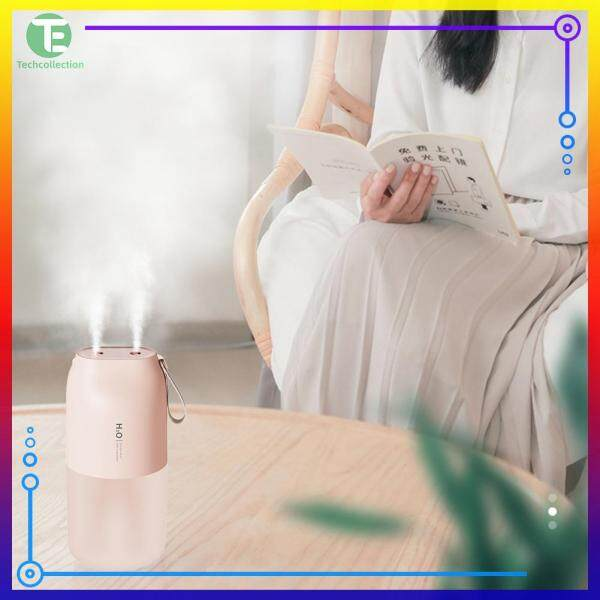 300ml Air Humidifier Double Nozzle Cool Mist Aroma Diffuser USB Charging with LED Night Light Singapore