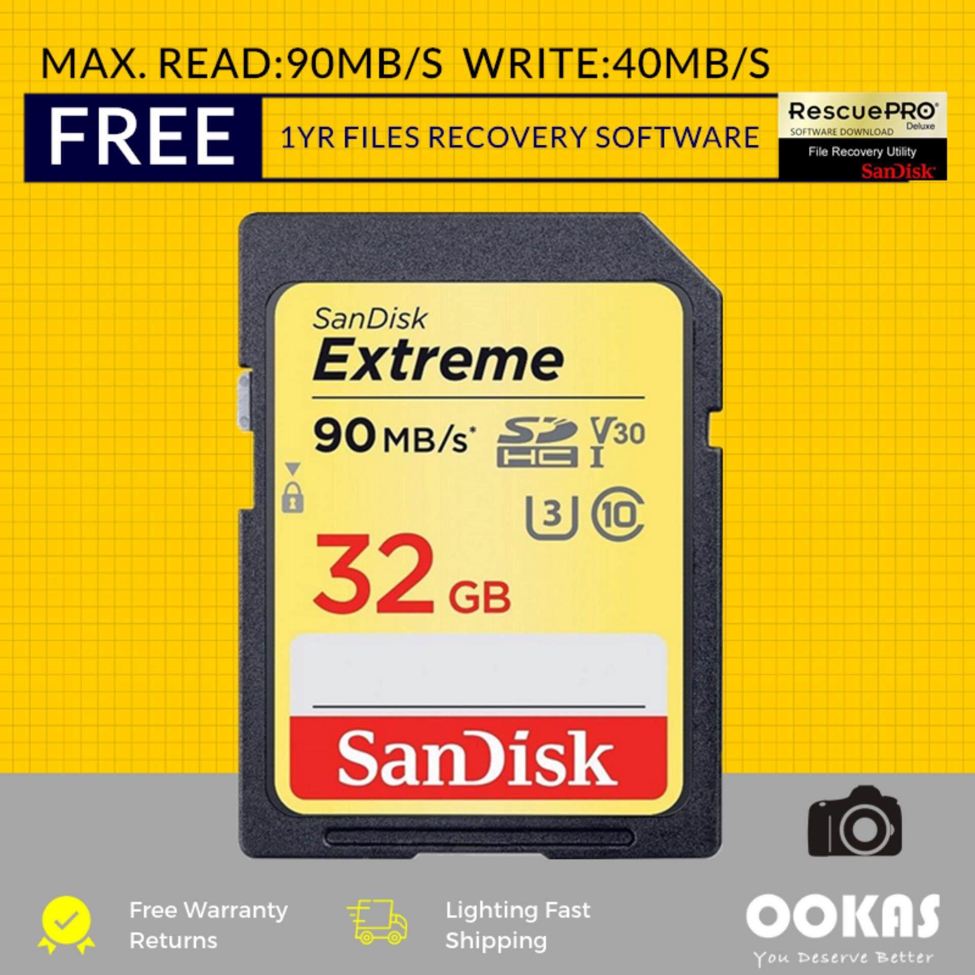 Giá Thẻ Nhớ sandisk_ _ Cực Chất 150 Mb/Giây Sd U3 32 Gb/64 Gb/128 Gb V30 4K Thẻ Nhớ Dành Cho Máy Ảnh Dslr