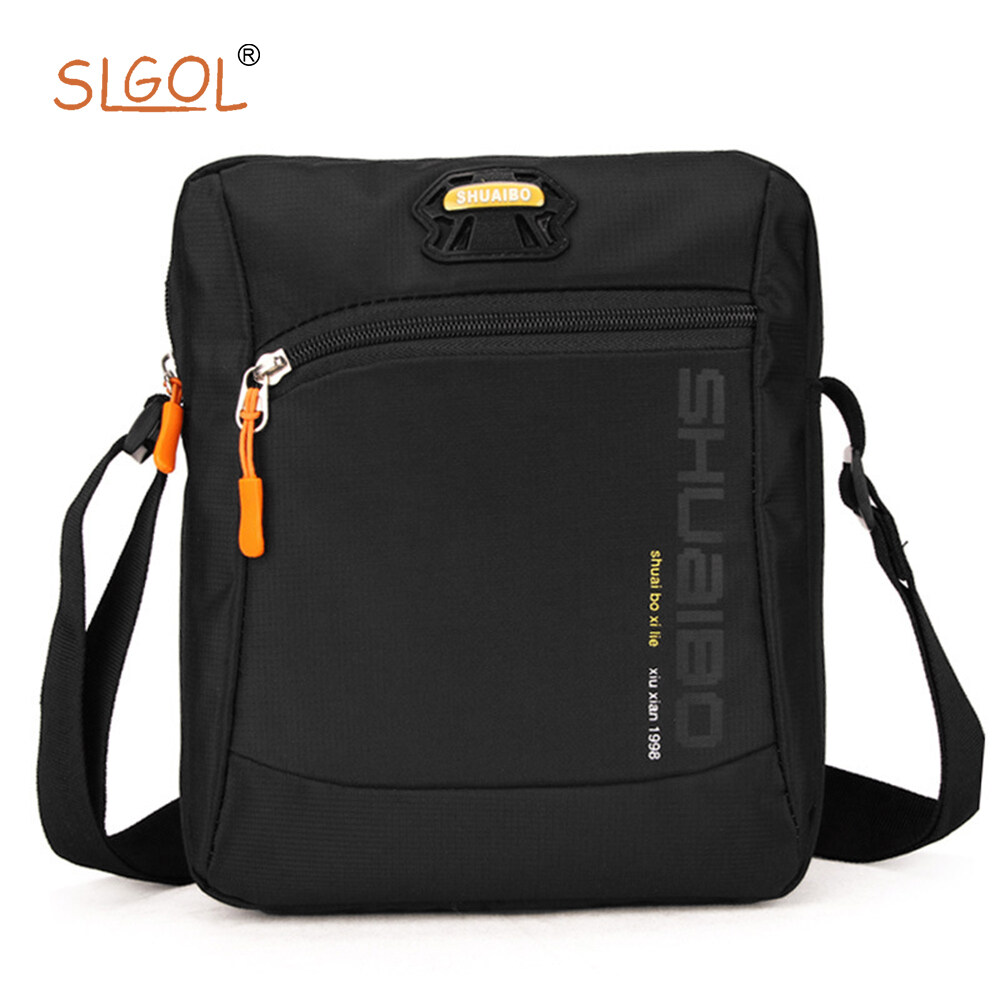 Mens Messenger Bag - SLGOL Crossbody Shoulder Bags Travel Bag Man Purse Casual Sling Pack for Work Business