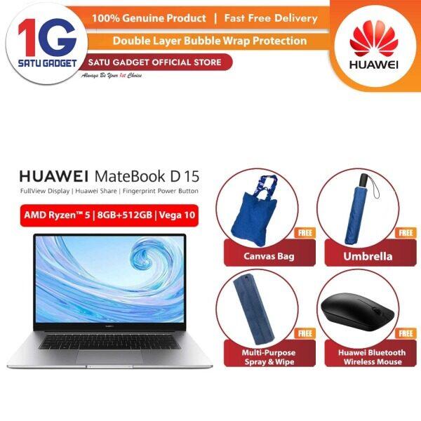 [READY STOCK]  Huawei Matebook D 15 2020 Original Laptop R7 / R5 8GB RAM   512GB SSD  2 Year Warranty By Huawei Malaysia Malaysia