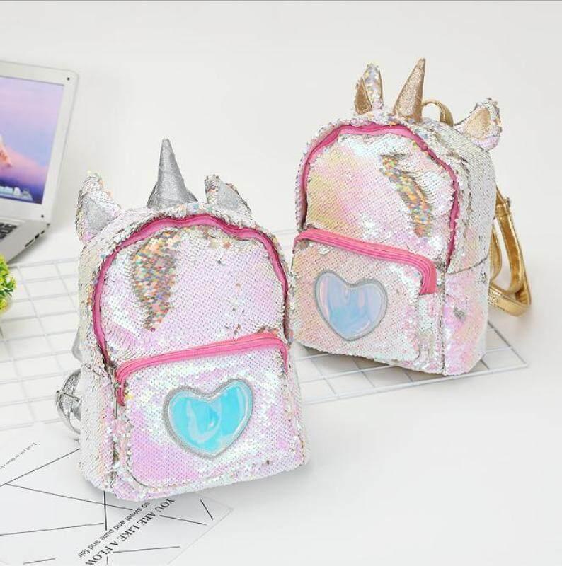 2018 new unicorn backpack girl fashion sequins backpack cartoon cute bag travel backpack
