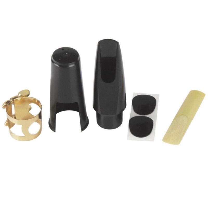 KOKKO Saxophone Mouthpiece+Clip+Clip Cap+Reed+Dental Pad for Alto/Tenor/Soprano Sax Musical Instrument Accessories 5pcs Set Malaysia