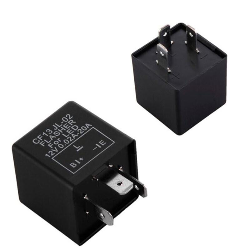 Agas 3 Pin Xe Hơi Điện Tử Phích Cắm Điện CF13 JL-02 Sửa Chữa Đèn LED Nháy Nhanh Nhấp Nháy