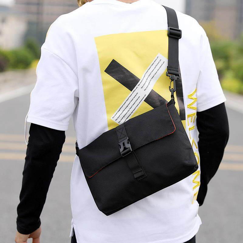 Reversible Mini Message Bag-Men Sling Bag Casual Student Cross-body Travel Phone Bags