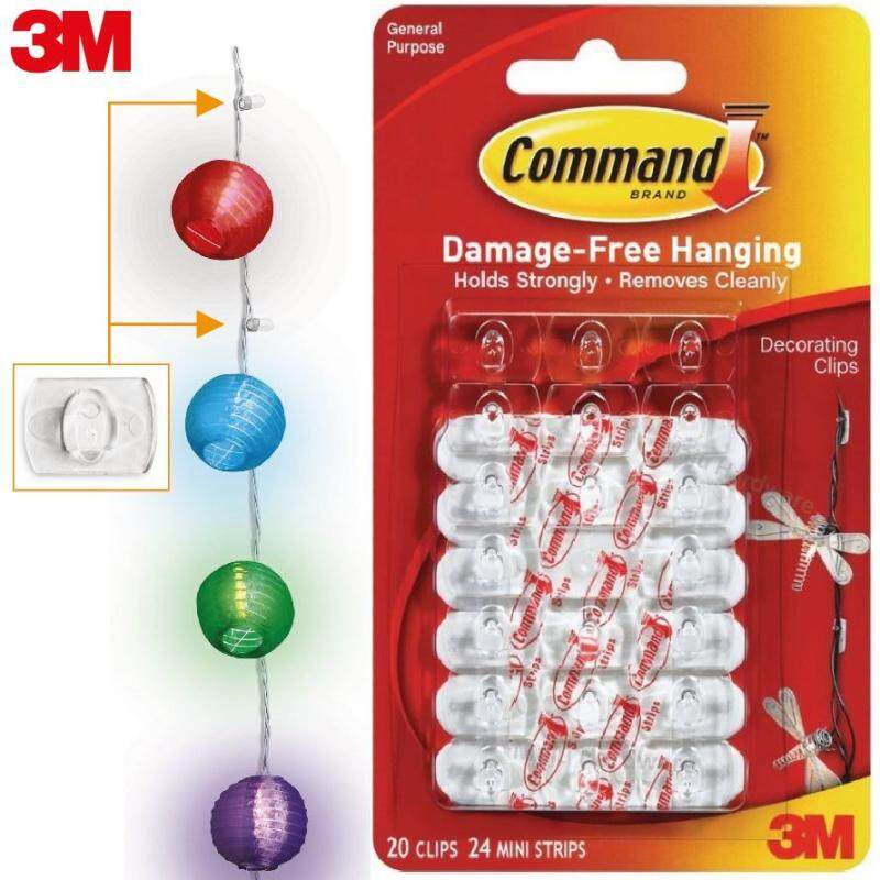 3M Command 17026 Decorating Clips Mini Wall Hook Organizer Wire Line