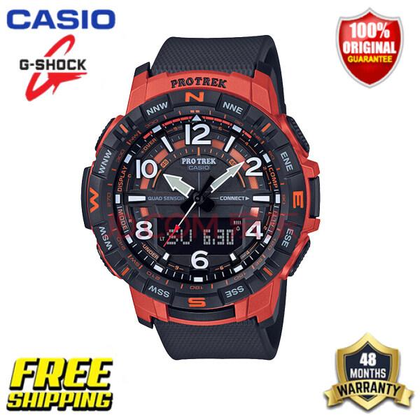 Original PROTREK PRT-B50 Outdoor Sports Mens Watch Bluetooth Smart Waterproof Watch PRT-B50-4PR-100 Meter Waterproof Malaysia
