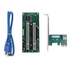 Bộ Chuyển Đổi PCI-Express Sang PCI Kép X16 Thẻ Mở Rộng Khe Cắm PCIe Cáp USB 3.0 Thêm Vào Bộ Chuyển Đổi Thẻ