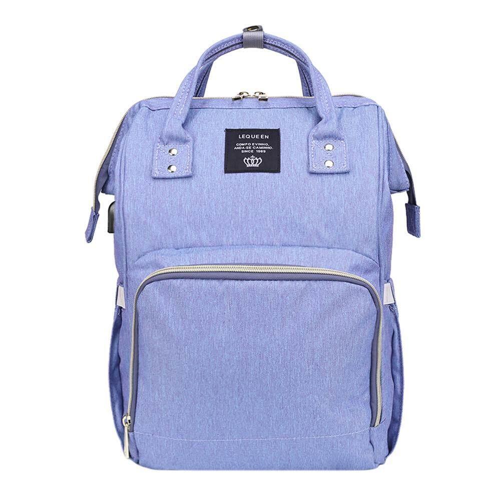 Maternity Waterproof Nappy Handbag USB Big Capacity Mummy Nursing Backpacks