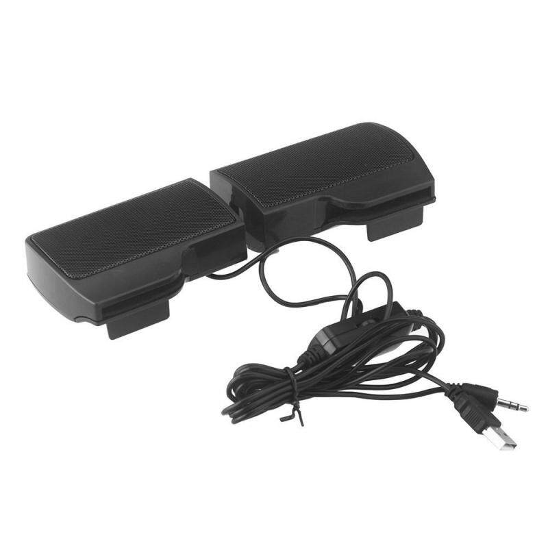 Mini Portable USB Stereo Speaker Soundbar for Notebook Laptop Mp3 Phone Music Player Computer PC with Clip Black Malaysia