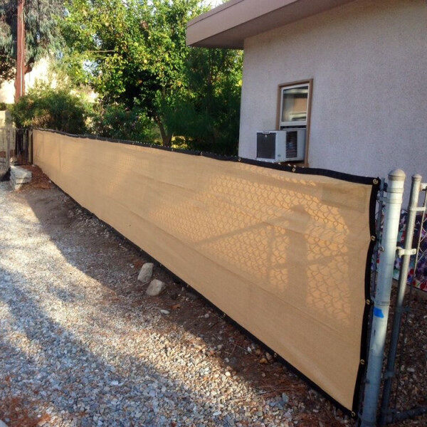 3ft Height Privacy Screen Fence Screen Wind Screen for Balcony Backyard Deck Patio Fence Porch Beige