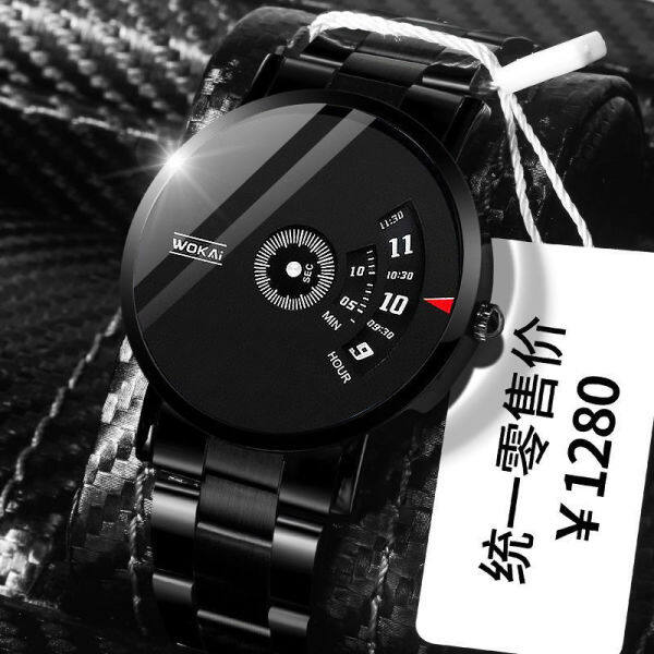 Swiss Genuine Watch Mens Best-Seller on Douyin Fashion Student Korean Style Online Red Black Technology Mechanical Couple Automatic Watch Malaysia