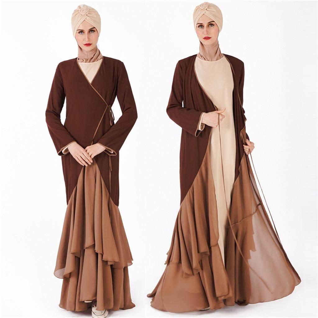 e8cce8ce33 Women Modest Maxi Dress Abaya Turkey Patchwork Long Robe Kaftan Clothes