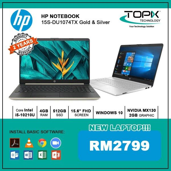 HP NOTEBOOK 15S-DU1074TX GOLD & SILVER Malaysia