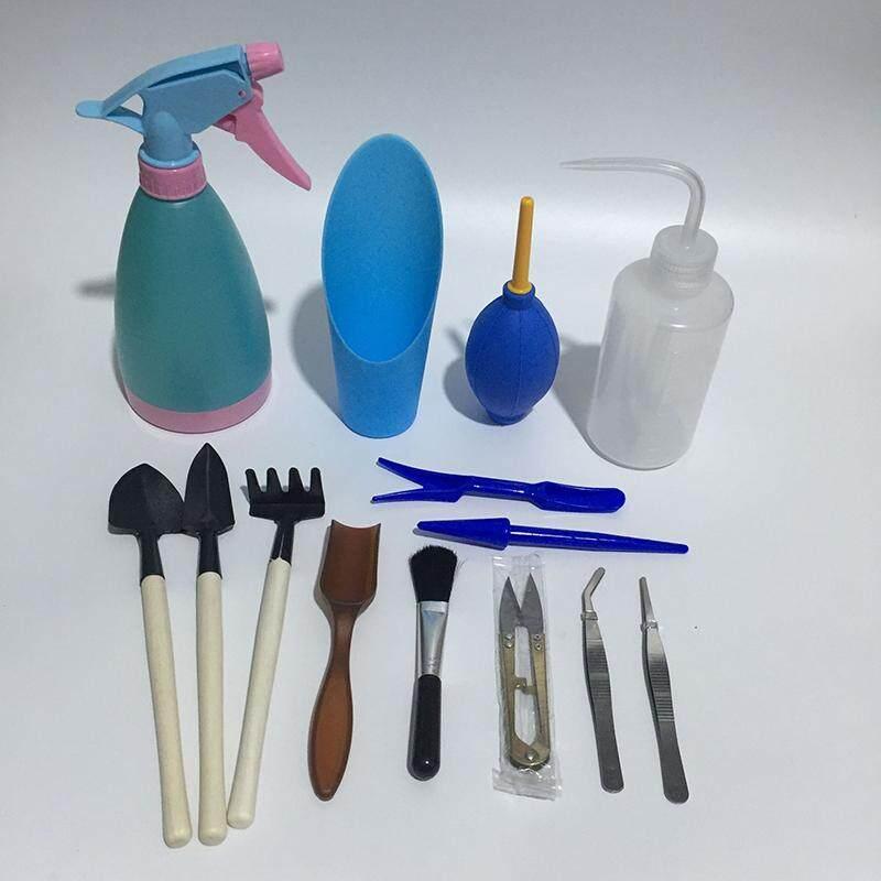 Gardening Tool Sets Plastic Light Mini Loose Soil Tools Set Pot Planting Gardening Hand Tools Succulent Plants 14 Pieces