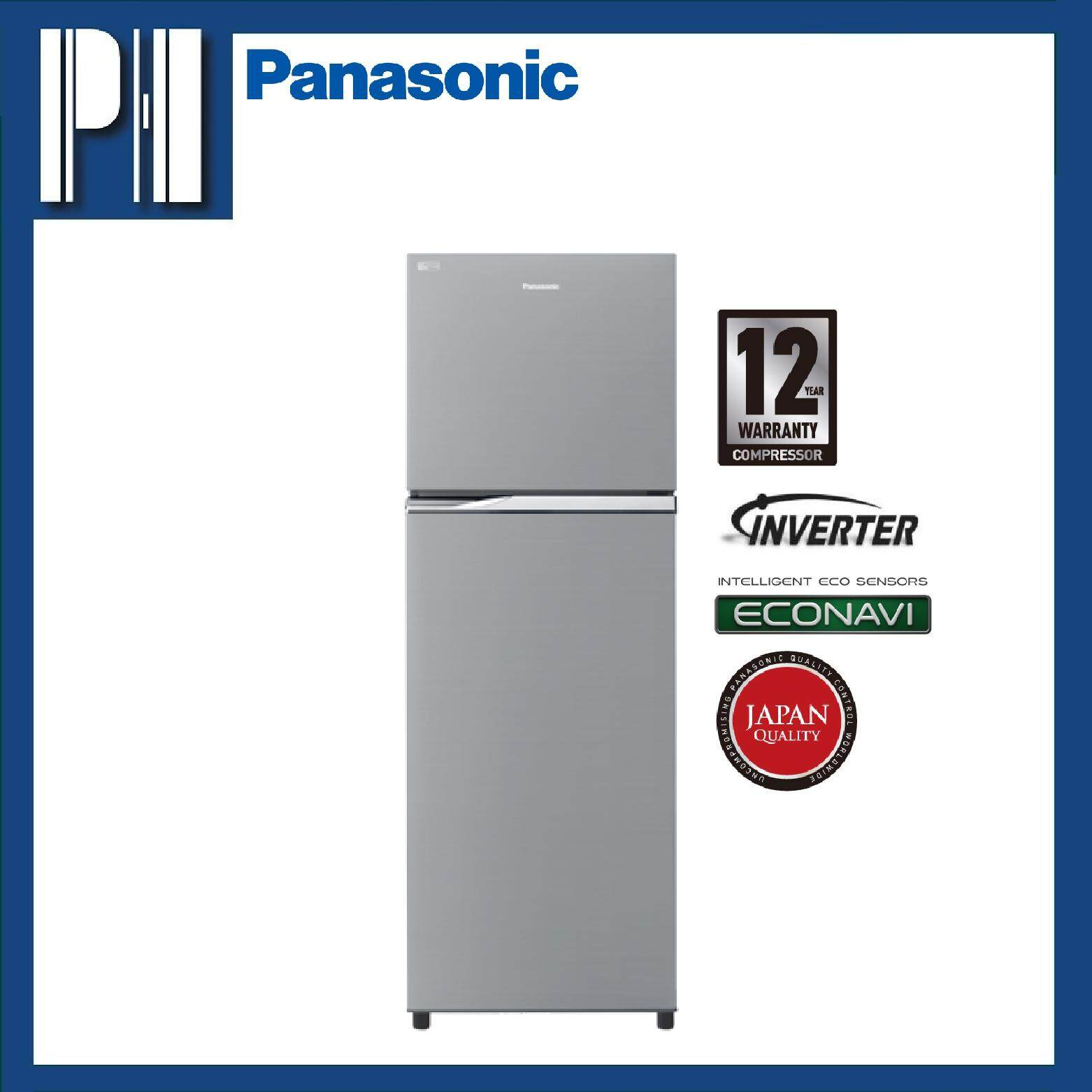 PANASONIC NR-BL348VSMY 333L ECONAVI Inverter 2-Door Top Freezer Refrigerator
