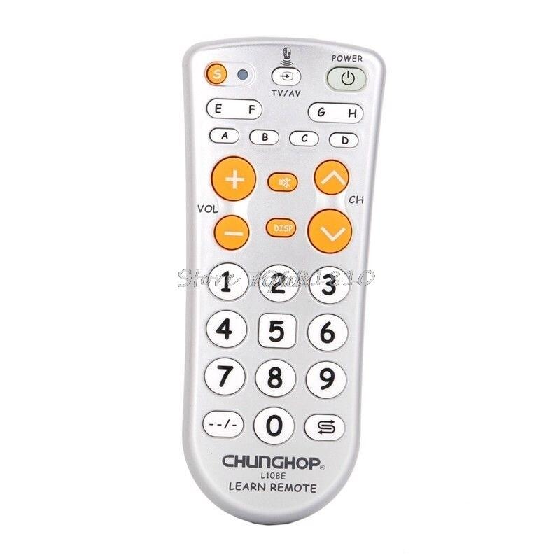 CHUNGHOP L108E 11-Chìa Khóa Điều Khiển TV Từ Xa Kết Hợp Chức Năng Học Cho DVD Stereo Chiếu