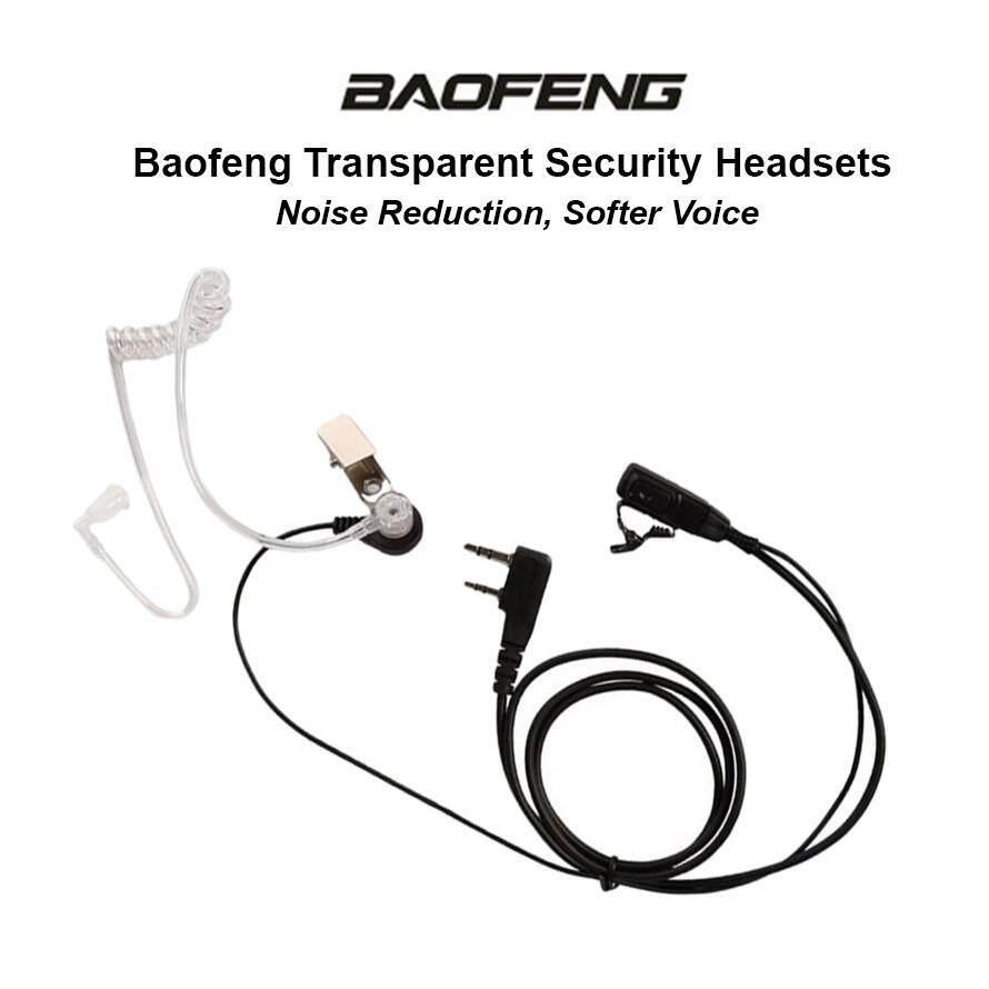 #READY STOCK# Baofeng Walkie Talkie Air Tube Earphone Transparent Security Headset WW