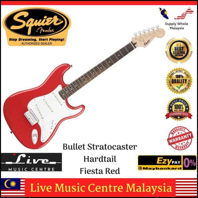 Fender Squier Bullet Stratocaster Hardtail 6-String Electric Guitar, Rosewood Fingerboard (Red) Malaysia