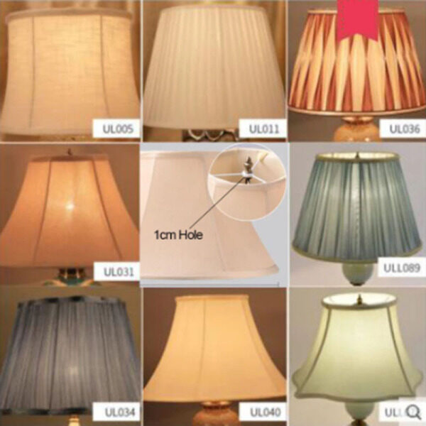 Bảng giá Phụ Kiện Che Nắng Đèn Bàn Vải Chụp Đèn Kiểu Mỹ Cỡ Lớn Lỗ 1Cm Vỏ Đèn Sàn Cạnh Giường Ngủ Khách Sạn