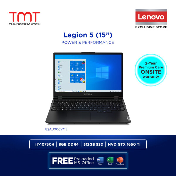Lenovo Legion 5 15IMH05H 82AU00CYMJ | i7-10750H | 8GB 512GB | 15.6| GTX1650ti | Win 10 | FREE Microsoft Office and Bag Malaysia