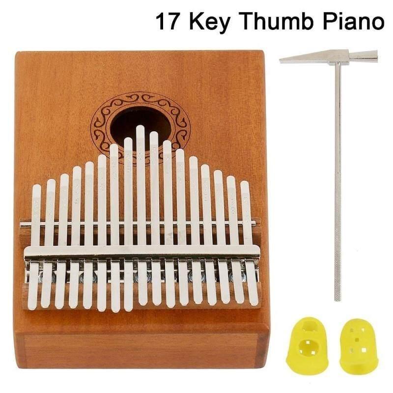 Gỗ Kalimba 17 Phím Ngón Tay Cái Đàn Piano Chắc Chắn Ngón Tay Piano Mahogan Tiện Lợi Mang Theo