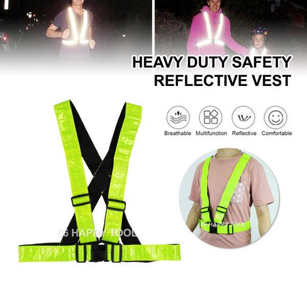 Heavy Duty Safety Reflective Vest Jaket Keselamatan Safety Coat Strap Shirt Netting High Visibility Reflecting