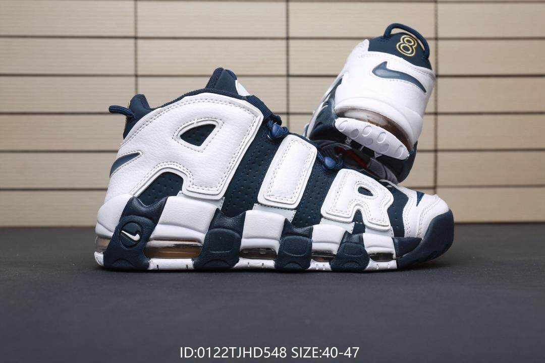782a63eb696 NIKE AIR MORE UPTEMPO large leather leisure running shoes Casual sports  shoes