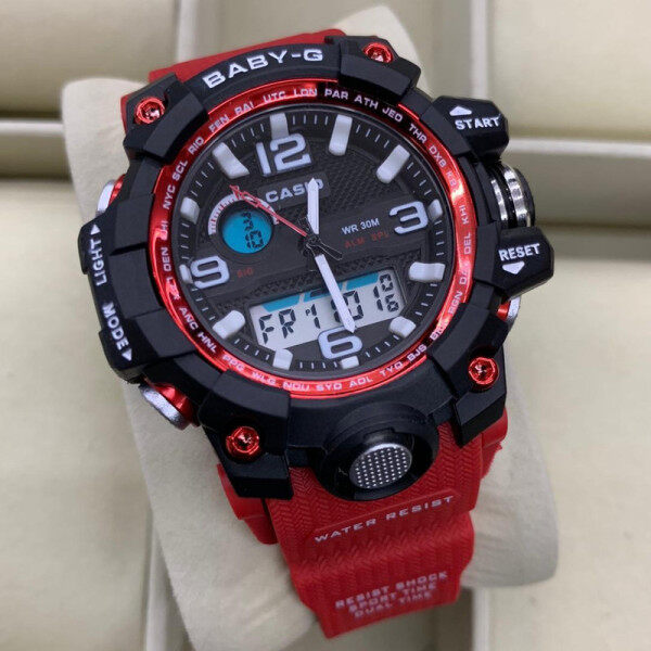 SPECIAL PROMOTION_BABY_G_ DUAL TIME RUBBER STRAP WATCH FOR WOMENS Malaysia