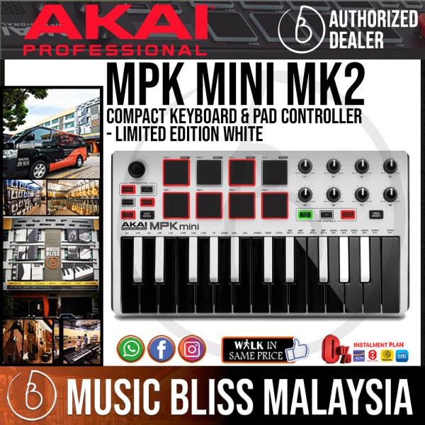 Akai Professional MPK mini MK2 Controller - Limited Edition White (MKII) Malaysia
