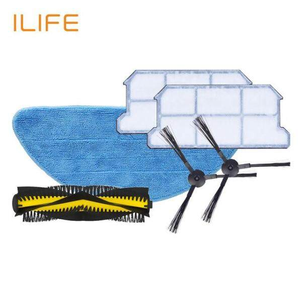 ILIFE V7s Plus Spare Replacement Kits Filter Mop Cloth Side Brush Singapore