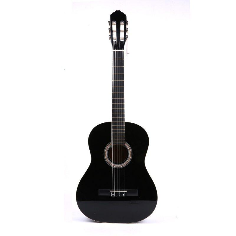 High Quality 39 Basswood Classic Guitar White Bordure Black Guitar Guitarra for Beginner Students Music Lovers Malaysia