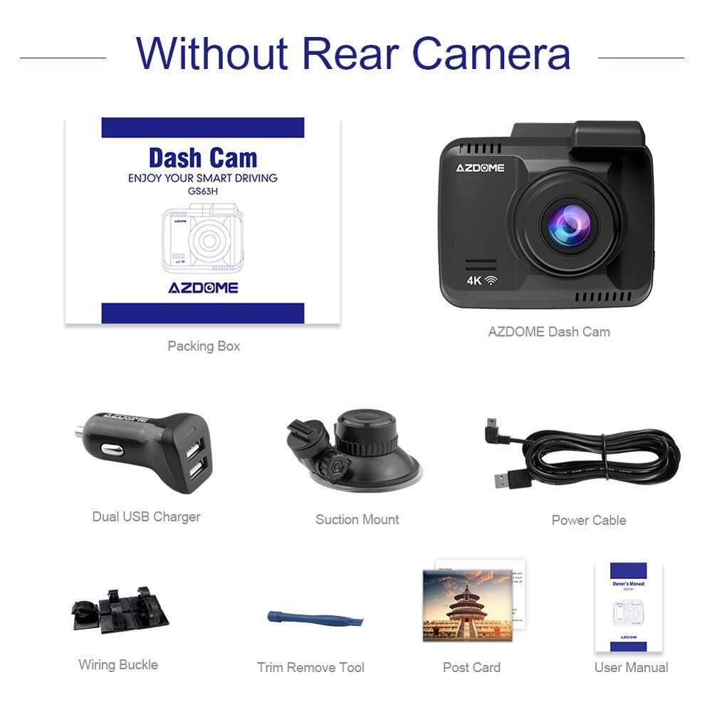 AZDOME GS63H Dual Lens WiFi FHD 1080P Front + VGA Rear Car DVR Recorder  2160P Dash Cam Novatek 96660 Dashcam Camera Built in GPS DHKJ Store