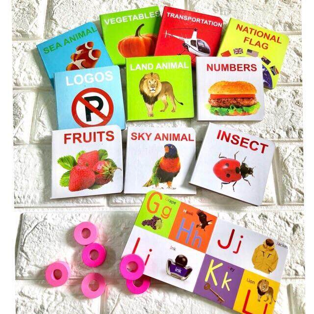 12 In 1 Set Early Learning Baby Books With Actual Photo References By Pok Pa Shop.