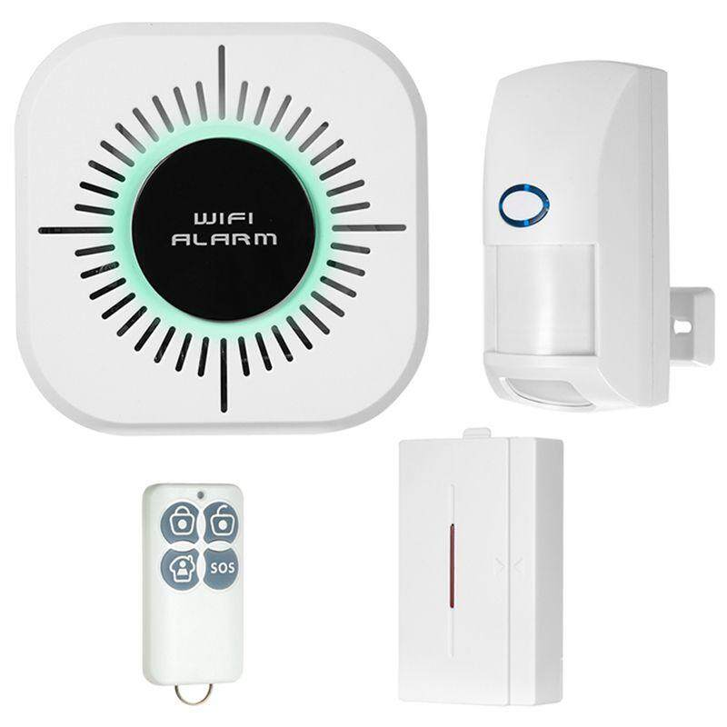 433MHz Wireless WIFI Home Burglar Security Alarm System Pet Immune PIR Motion Sensor Detector Kit Smart Phone App Control